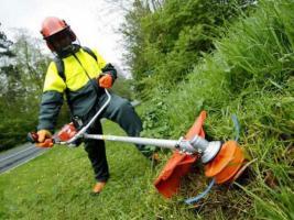 Бурение мотобуром, покос травы